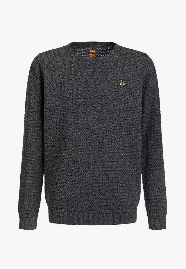 JONGENS FIJNGEBREIDE MET - Jersey de punto - blended dark grey
