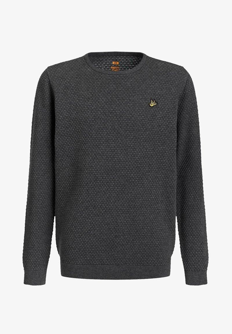 WE Fashion - JONGENS FIJNGEBREIDE MET - Jumper - blended dark grey