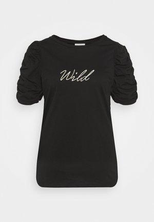 CARUH LIFE PUFF TEE - T-shirt imprimé - black