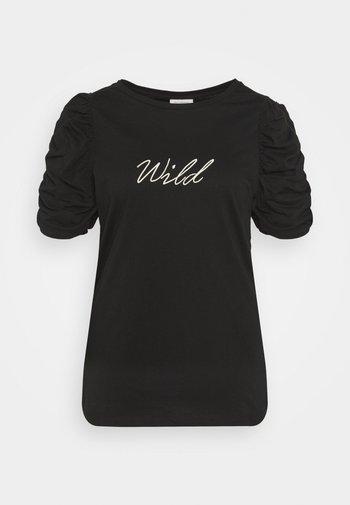 CARUH LIFE PUFF TEE - Print T-shirt - black