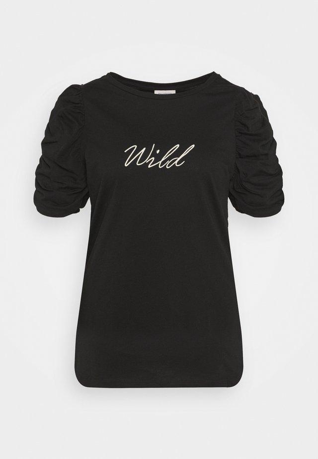 CARUH LIFE PUFF TEE - Camiseta estampada - black