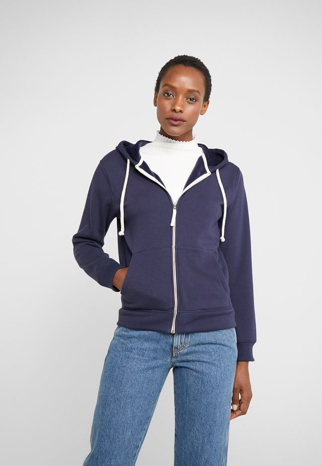 LINED HOODIE - veste en sweat zippée - navy
