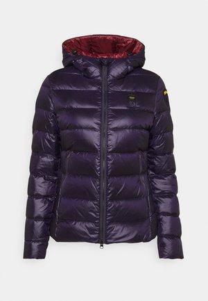BASIC HOODED LIGHT JACKET - Down jacket - navy