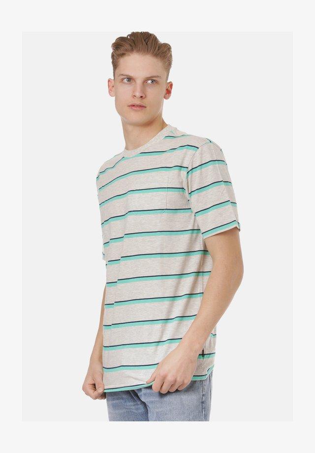 T-shirt print - oatmeal heather