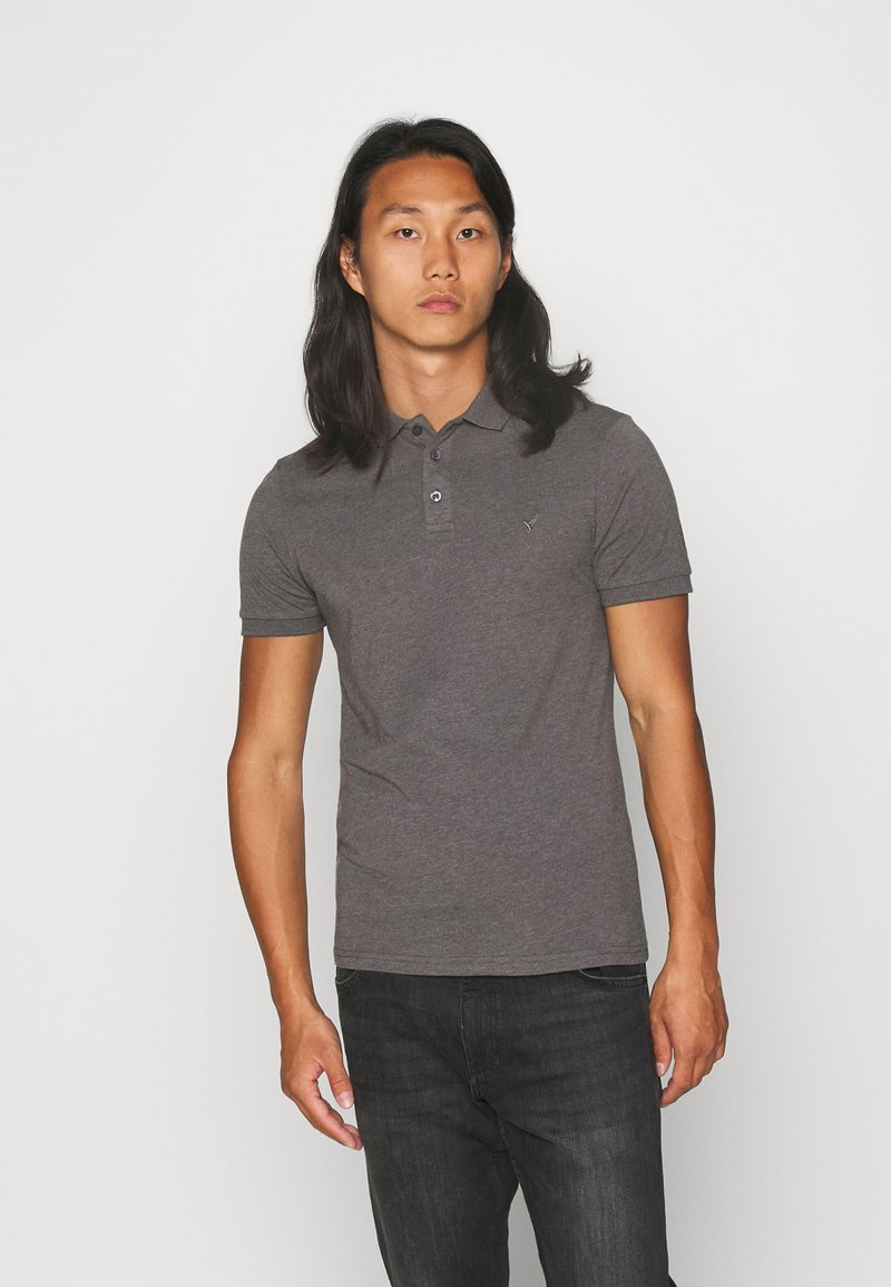 Pier One - MUSCLE FIT - Polo - dark gray