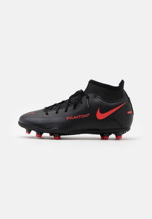 JR PHANTOM CLUB FG/MG UNISEX - Moulded stud football boots - black/chile red/dark smoke grey