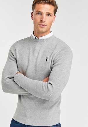OXFORD MOCK SHIRT JUMPER - Jumper - grey