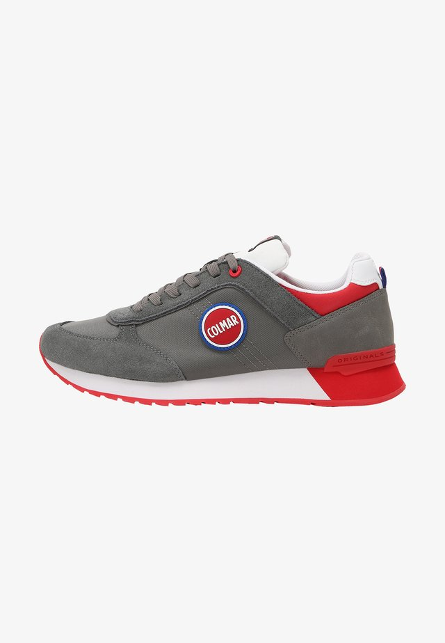 Baskets basses - grey / red