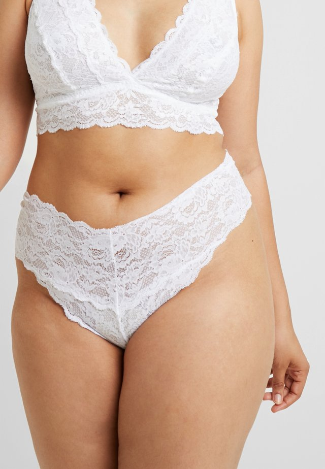 NEVER SAY NEVER PLUS CUTIE THONG - String - white