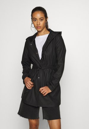 JDYSHELBY BELT RAINCOAT - Vodotěsná bunda - black