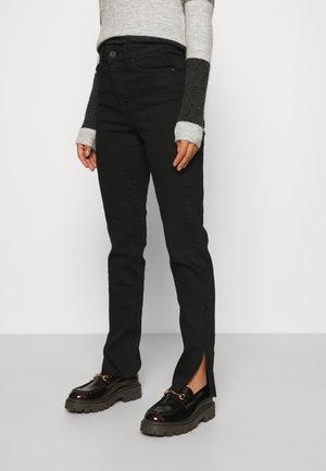 PCEMI SLIT  - Jeans Skinny - black denim
