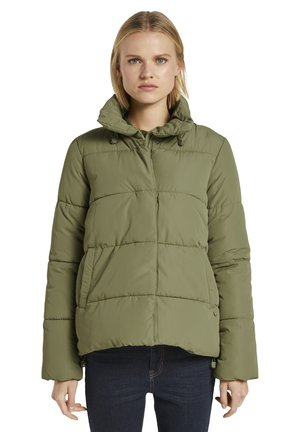 Winter jacket - dull olive green