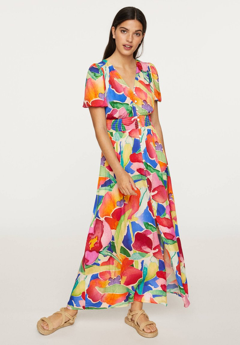 OYSHO - LONG MAXI-FLORAL DRESS 31992115 - Maxi dress - multi-coloured