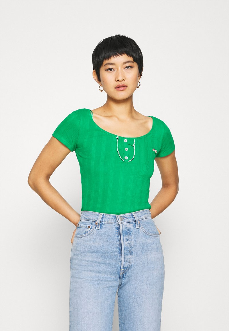 NAF NAF - OFLIPPO - T-shirts print - vert rio