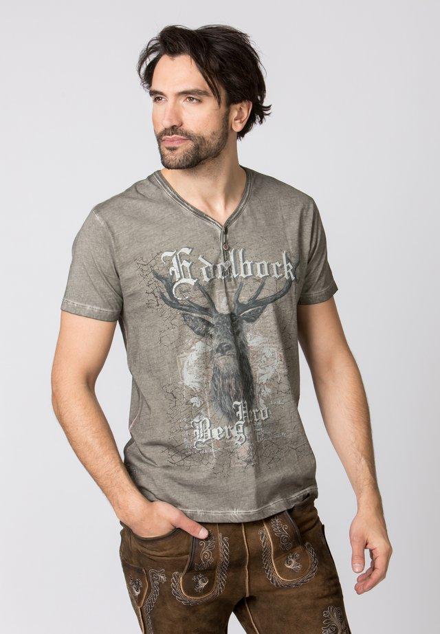 BERGHERO - Print T-shirt - stone