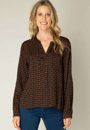 OLIZE - Blouse - navy/cashew brown