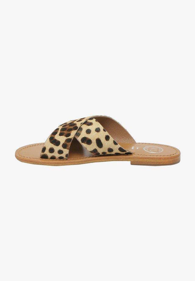 LANRUEN - Muiltjes - leopard print