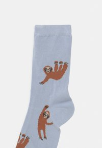 Lindex - SLOTH 5 PACK UNISEX - Socks - light dusty turquoise - 2