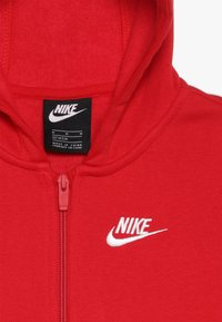 Nike Sportswear - HOODIE CLUB - Mikina na zip - university red/white - 4