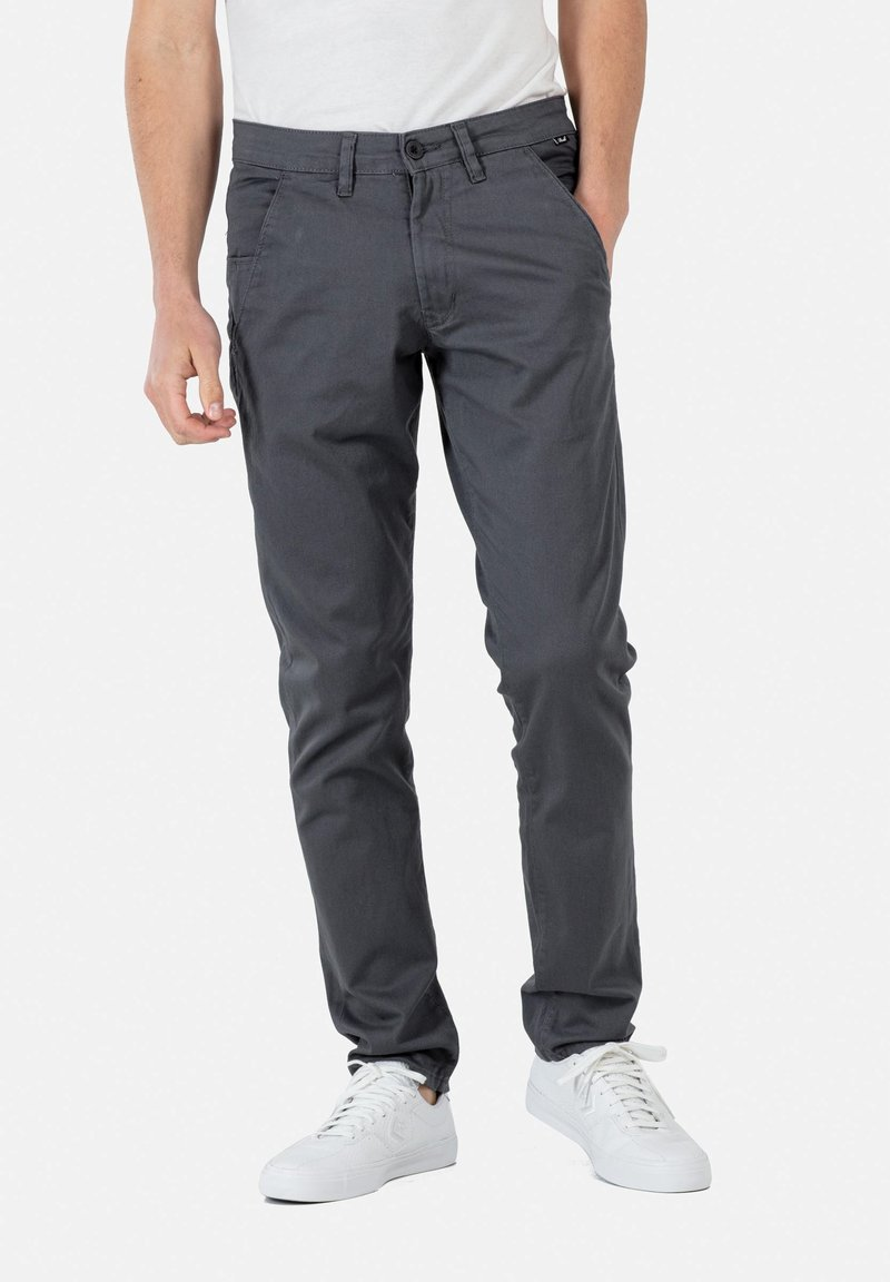 Reell - FLEX TAPERED CHINO - Trousers - dark grey