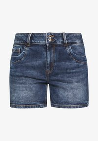 CAJSA - Denim shorts - used mid stone blue denim