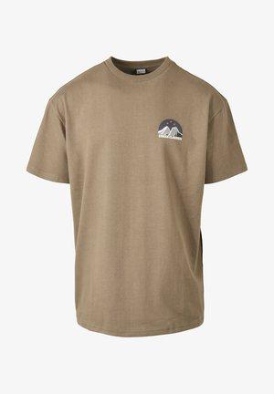 MÄNNER HORIZON - T-shirt med print - olive