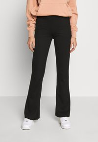 JDY - JDYPRETTY FLARE PANT - Broek - black - 0