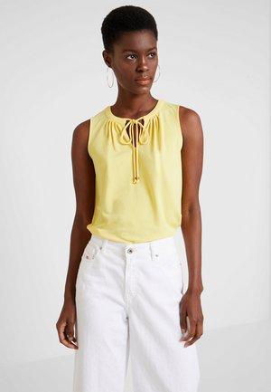 PLEAT NECK - Top - bright yellow