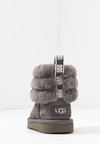 UGG - FLUFF MINI QUILTED - Bottines - charcoal - 4