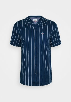 PRINTED STRIPE CAMP SHIRT - Shirt - twilight navy