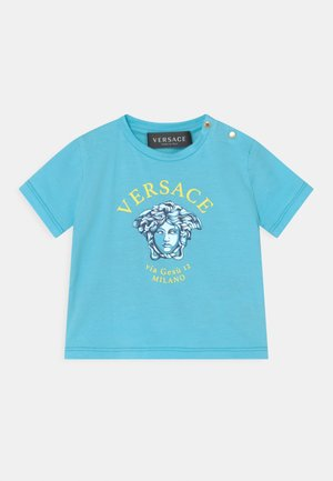 VIA GESU UNISEX - Print T-shirt - light blue/yellow/bluette