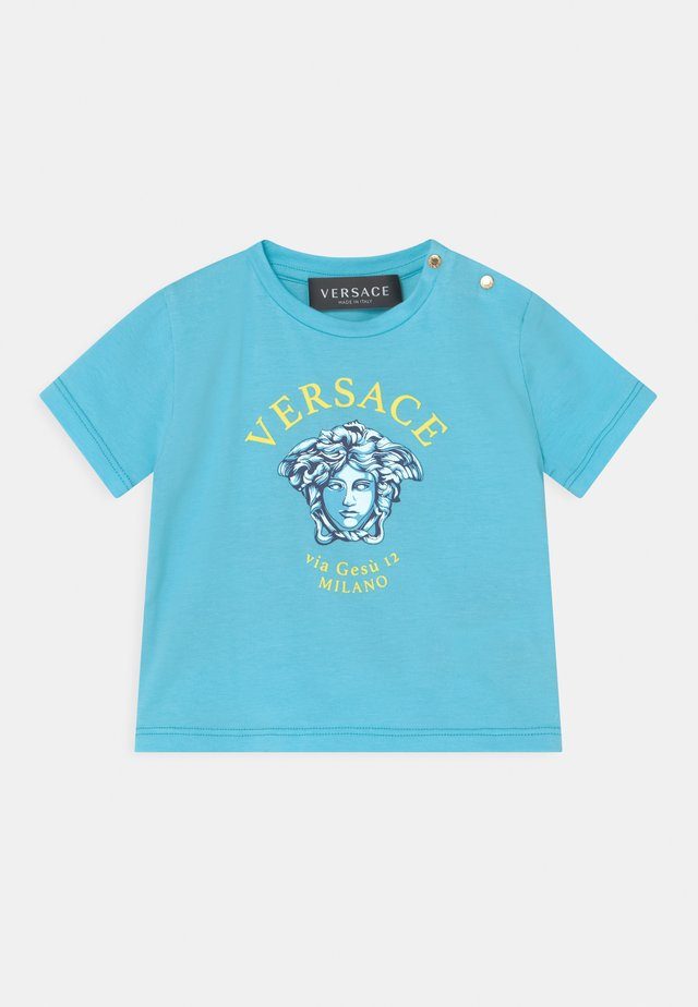VIA GESU UNISEX - T-shirt print - light blue/yellow/bluette