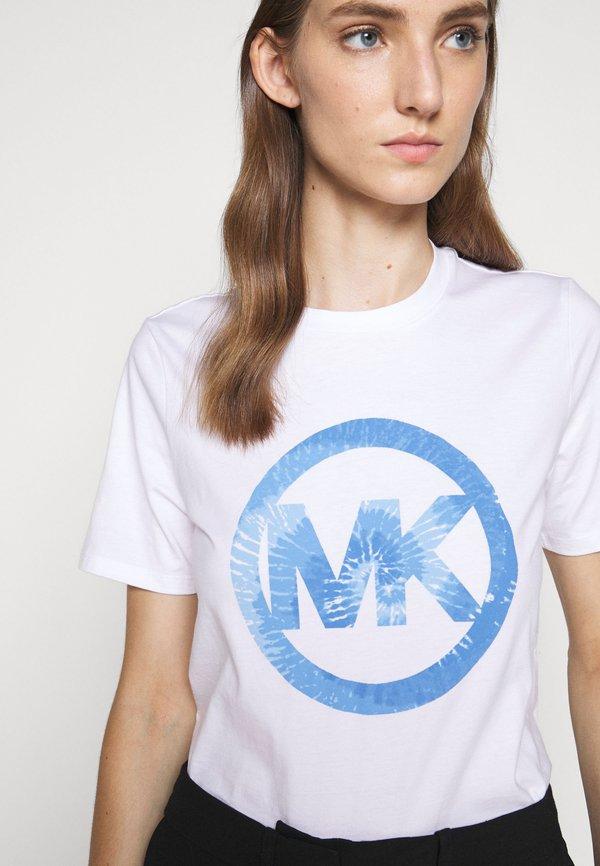 MICHAEL Michael Kors TIEDYE - T-shirt z nadrukiem - crew blue Nadruk Odzież Damska ITSY MY 1