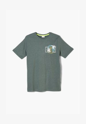 MIT FRONTPRINT - Print T-shirt - khaki
