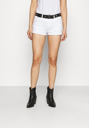 JUDIE - Denim shorts - white
