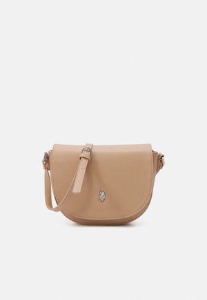 JONES S FLAP BAG - Across body bag - beige