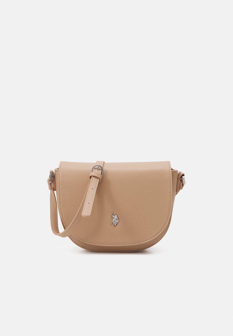 U.S. Polo Assn. - JONES S FLAP BAG - Across body bag - beige