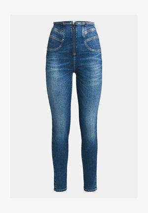 HOHER BUND - Jeans Skinny Fit - blau