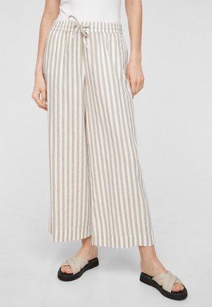 Trousers - beige stripes