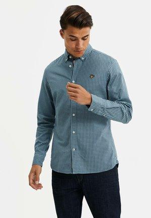 SLIM FIT OXFORD - Shirt - greyish blue