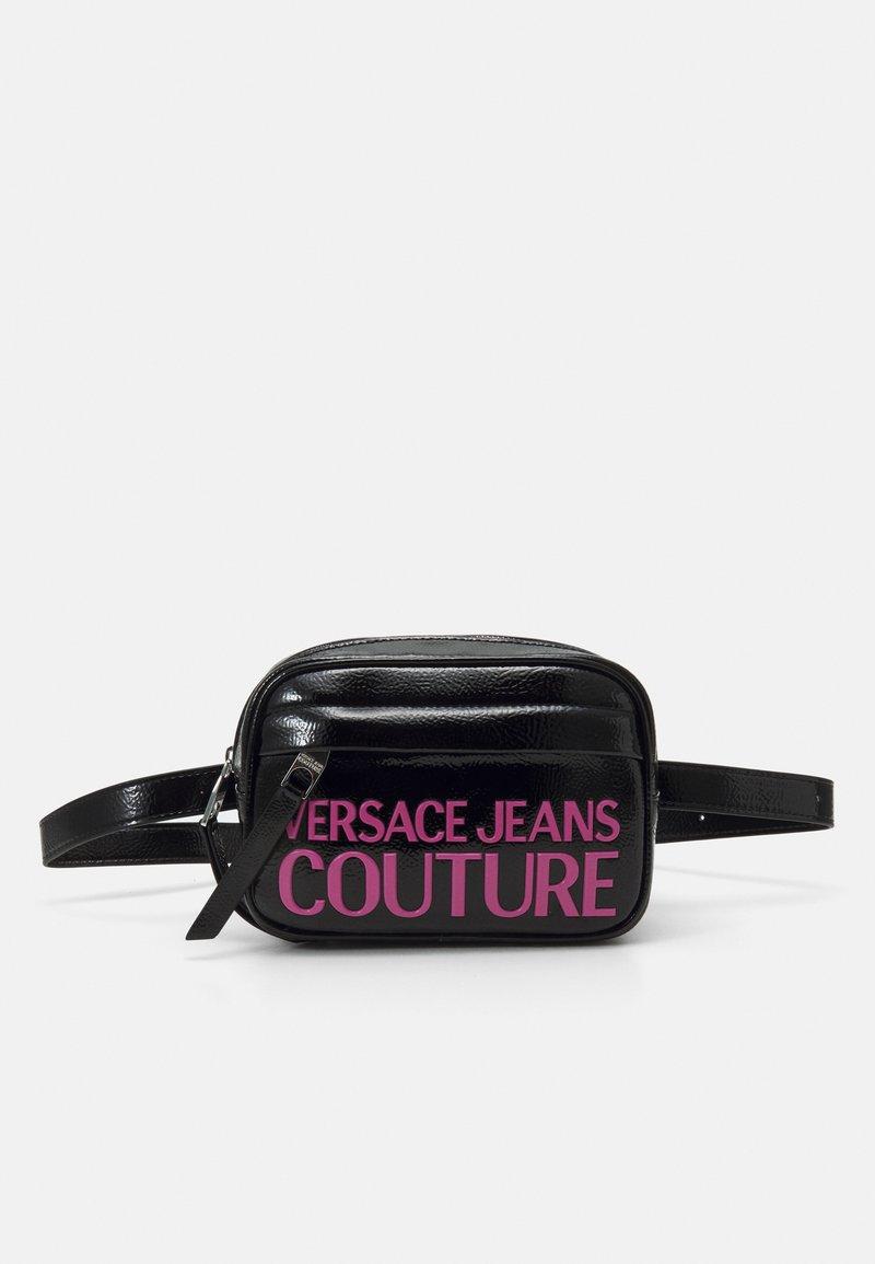 Versace Jeans Couture - BELT BAG - Ledvinka - black