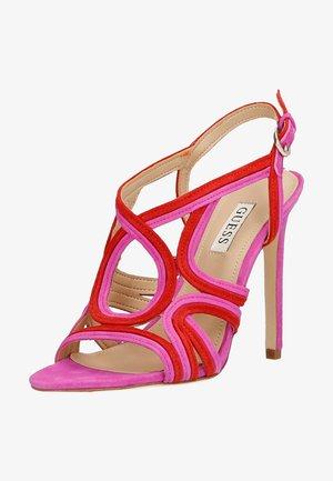 FIDESSA - Sandals - rot/merf.