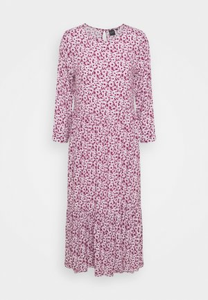 FLOUNCE MIDI - Day dress - plum/off white floral