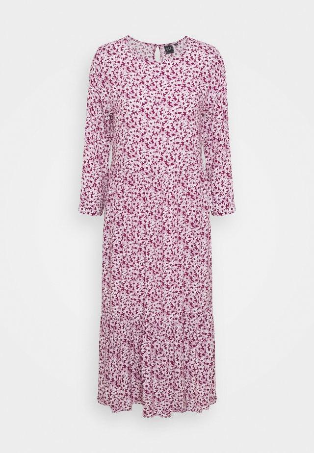 FLOUNCE MIDI - Day dress - plum/off white floral
