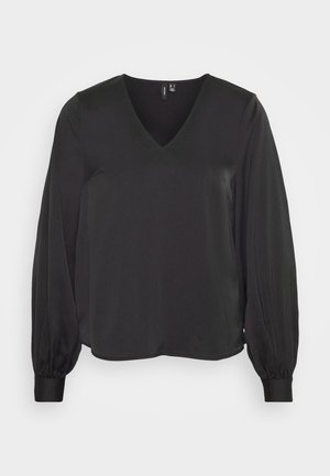VMCOCO V NECK  - Long sleeved top - black