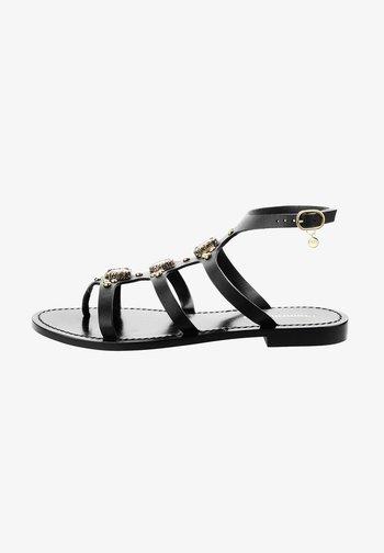 RAMISETO - Sandály s odděleným palcem - black