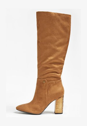 LABONI - High heeled boots - hellbraun