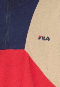 Fila - ELLA CROPPED HALF ZIP - Fleece jumper - true red/black iris/irish cream - 2