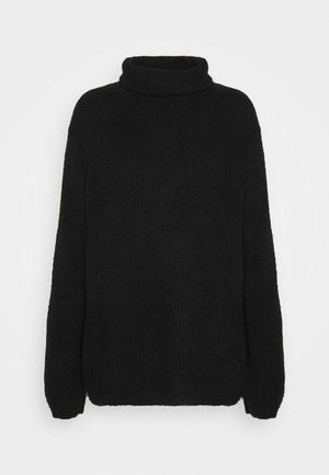 YASALLU ROLL NECK - Strikkegenser - black