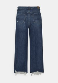 American Eagle - WIDE LEG CROP - Flared Jeans - empire blue - 1